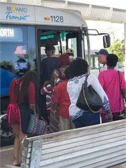 Florida-based Broward County Transit's bus evacuation pick-up routes included people living along the beaches, in mobile home parks, and the homeless. Photo: Broward County Transit