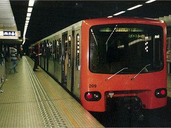 Brussels Metro train.