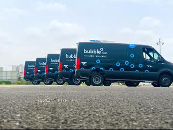 Using the bubble app, riders will be able to hail a shuttle directly from their smartphone. Via