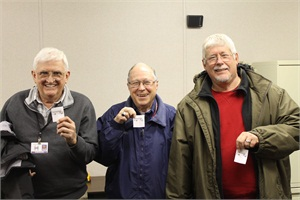 From left: Gary Bell, Ken Ross and Don Baldwin are three of the five special-needs bus drivers at Henry (Ga.) County Schools who will receive new buses as a reward for their perfect attendance.