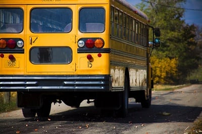 Four children died in school bus loading and unloading accidents in the U.S. last school year, according to statistics collected annually by the Kansas State Department of Education's School Bus Safety Unit. Photo by Kolin Toney