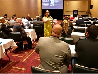 "Aleja Seabron's ""Creating Your Social Strategy"" session stressed the importance of active engagements with the audience, as well as the need to supplement social media content with blogs, which are key to optimizing keywords and Search Engine Optimization."