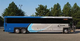 The new nine Commuter Coaches, which feature American seating and bike racks, will eventually be fitted with Wi-Fi to allow commuters to work on longer trips. MCI