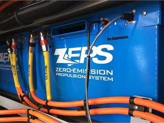CCW's ZEPS buses' propulsion 373 kWh batteries are specifically designed for large vehicles.