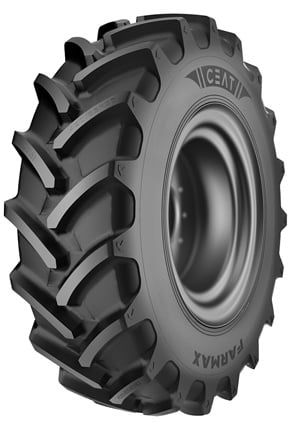 The Ceat Farmax R85 Ag radial is available for rim sizes 20 inches to 46 inches.