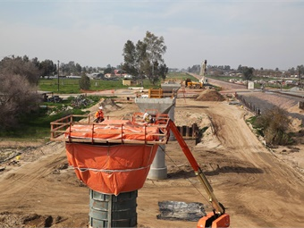 Central Valley construction photo from February 2016. California High Speed Rail Authority