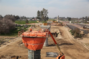 Construction of California's high speed rail project in the Central Valley. Photo: CHSRA