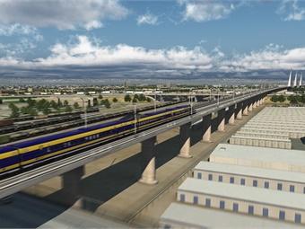 Rendering courtesy California High-Speed Rail Authority