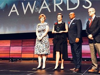 Central Ohio Transit Authority (COTA) received the Outstanding Public Transportation System Achievement Award (Category: Providing more than 4 million but fewer than 20 million annual passenger trips). Photo: METRO Magazine