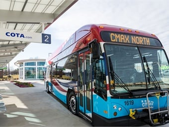 COTA's 2020 budget includes improvements in frequencies to relieve overcrowding on the CMAX rapid transit line between downtown Columbus and Westerville. COTA