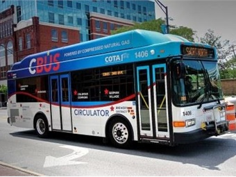 Today, 150 of COTA's 321 buses are powered by CNG. Photo: COTA