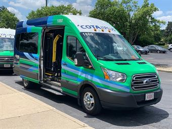 COTA Plus launched in July 2019, providing microtransit service to a portion of Grove City.