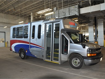 First Transit's maintenance shop for the Central Ohio Transit Authorityparatransit operations has a Blue Seal of Excellence.