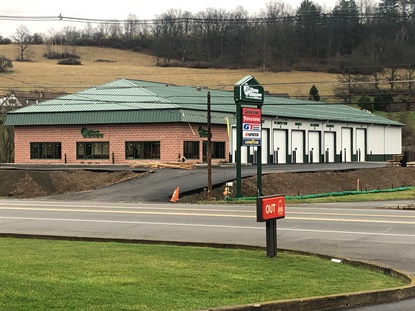 Steve Shannon Tire's new location in Mansfield, Pa., days before it opened on April 6.