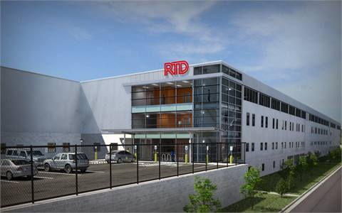 RTD Denver's new commuter rail maintenance facility will feature maintenance areas top-lit by skylights. (Rendering courtesy RTD Denver)