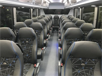 The D45 CRT LE offers a high-capacity 54-passenger seating configuration overall, with seating for 52 when there are two passengers using a mobility device. Photo: METRO Magazine