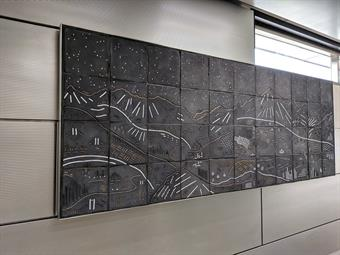 The IMD station is also home to new, one-of-a-kind artwork created by Chicago-based artist Jason Messinger.