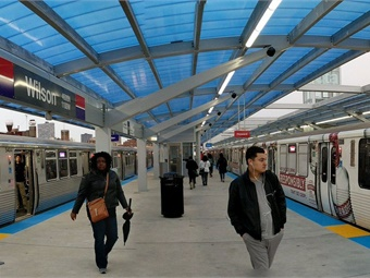 Work has begun on the $3.5 million first phase of the program, which will replace older, standard-definition cameras at 20 subway stations with HD cameras. Photo: CTA