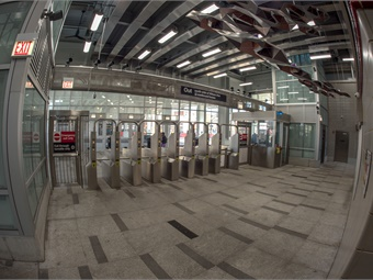 Station features include numerous security cameras throughout, platforms, CTA Train Tracker displays, wider stairwells, new escalators and other improvements.