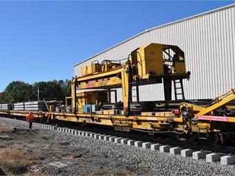 Track Construction Machine photos via New Haven-Hartford-Springfield (NHHS) passenger rail program.