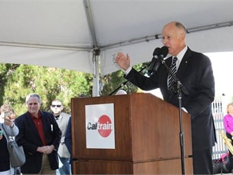 """A country is great when it can come together and build for the future. That's what we are doing right here on the Peninsula. It's about the future. It's about clean air, efficiency, speed and not sitting on the freeway for a couple of hours bumper-to-bumper."" - Gov. Jerry Brown"