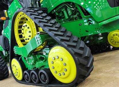 Camso supplies tracks and track systems for John Deere equipment.