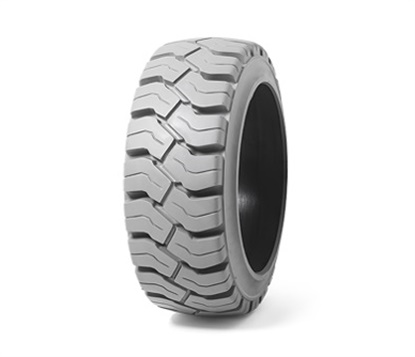 The PON 550 non-marking tire from Camso is a treaded option for forklifts looking for energy efficiency and heat resistance.