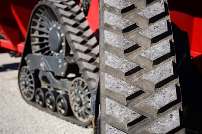Camso says the 4500 High Roading Tracks help customers travel up to 50% faster while pulling implements.