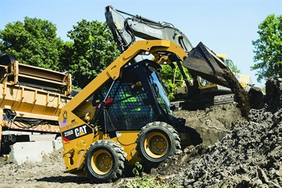Camso has introduced two skid steer tires (the Camso SKS 753 for mixed and hard surfaces is pictured) and three forklift tires.