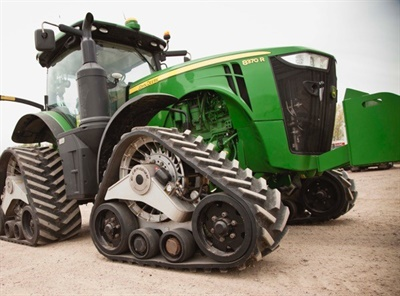Camso says its conversion track system for tractors increases traction and mobility in the field, while reducing soil compaction by more than 65%.