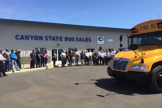 Canyon State Bus Sales' new 27,500-square-foot facility enables the Blue Bird dealer to increase its staff by 15% immediately.