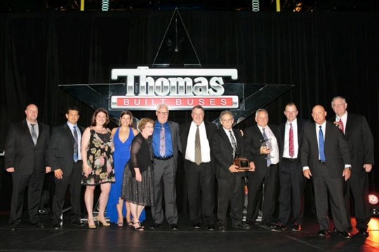 Carolina Thomas was named Thomas Built Buses' 2016 Dealer of the Year at an awards ceremony in April.