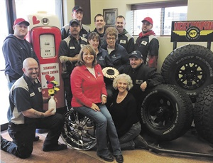 Dealership owner Patti Piscione credits her dedicated crew with being responsible for a large part of the success of Carter Tire Sales & Service in Elkhart, Ind.