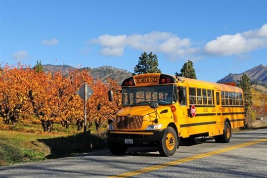 Pupil transportation consultant — and former English teacher — George Horne has penned numerous poems about the yellow bus world and the people who inhabit it. Photo by Tim Bentz
