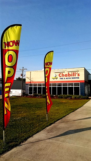 This Chabill's Tire store at 11860 Airline Highway in Baton Rouge is the company's 16th location.
