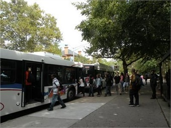 Organizations like the Champaign-Urbana Mass Transit District (MTD) not only save riders money on parking and vehicle maintenance, but they also give its users a leg up on fighting obesity. Photo: Champaign-Urbana Mass Transit District