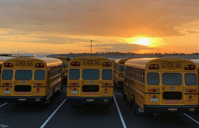 The parking lot at the new facility has 340 spaces. Photo courtesy Chandler Unified School District #80