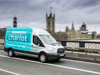 Chariot's commuter shuttle enables passengers to complete the first and last mile of their journey by connecting them with nearby transit hubs and underground stations. Photo: Chariot