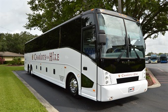 The addition of the three vehicles brings the company's motorcoach fleet to 17, and total fleet vehicles to 80. Photo: ABC Companies