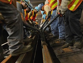 The MTA plans to hire 2,700 new employees to help reinforce the subway fix-up. Photo: Metropolitan Transportation Authority/Marc Hermann