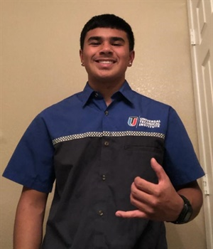 S&S Tire has long hired UTI students to work in its three retail stores. Chasten Nobriga is a UTI student who hails from Hawaii and arrived with tire experience after working for Lex Brodie's Tire Co.