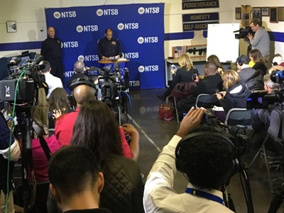 NTSB Chairman Christopher Hart said in a press briefing that investigators are asking parents and others about complaints that had reportedly been lodged against school bus driver Johnthony Walker.