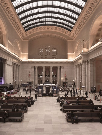 Chicago Union Station, completed in 1925, was designed by Daniel Burnham and successor firm Graham, Anderson, Probst & White. Photo: Amtrak