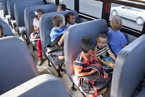 NHTSA has long declined to mandate seat belts on large school buses, but now the agency is convening a panel to examine the issue. Photo courtesy NHTSA