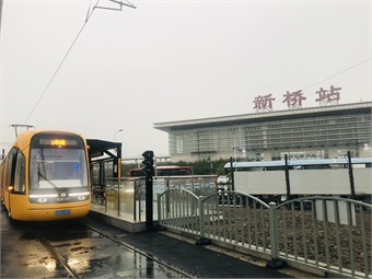 The Songjiang tram is the first tram to be operated by Shanghai Keolis in China.