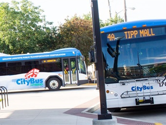 CityBus will use FTA funding to install pedestrian detection systems on its fleet of nearly seventy fixed-route vehicles. Photo: CityBus