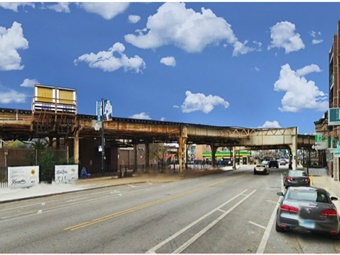 A photo of Clark Street before construction. Purple Group