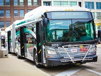 The communications system services GCRTA's entire bus and rail fleet of more than 500 bus, bus rapid transit, and paratransit vehicles, and more than 100 heavy and light rail trains. Cleveland RTA