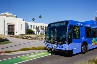 BBB's buses will be equipped with renewable natural gas engines to further reduce vehicle emissions by over 90% by December 2018. Photo: Big Blue Bus