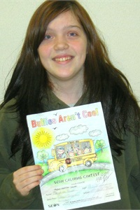 Mayson Bac, 11, of Washington-based North Thurston Public Schools was the overall winner of Seon Design's anti-bullying coloring contest.